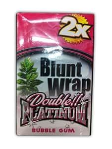 Blunt Wrap Double Platinum Bubble Gum 25 x 2 Wraps