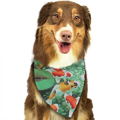 Hipiyoled HD Japanese Koi Fish Dog Pet Birhday Bandana Cotton Quality