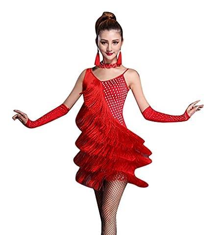 Salsa Tenues - NiSeng Femmes Latin Robe Tango Rumba Valse