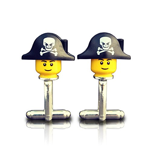 SJP Cufflinks Gemelos Hombre diseño Piratas Lego