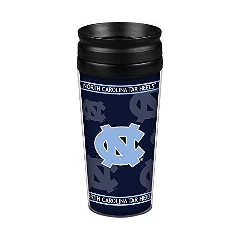 NCAA North Carolina Tar Heels Full Wrap Travel Tumbler, 14-Ounce, Blue