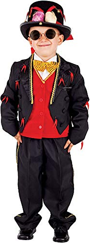 Kostüm Stregone - Carnevale Venizano CAV5061-S - Kinderkostüm SCACCIAMALOCCHIO - Alter: 7-10 Jahre - Größe: S