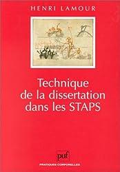 Technique de la dissertation dans les STAPS