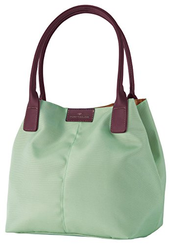 tom-tailor-acc-miri-shopper-bolsa-de-la-compra-de-material-sintetico-mujer-color-verde-talla-44x28x1