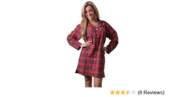 301a1af1fc Quality 100% Combed Cotton Nightshirt in Pretty Red Tartan