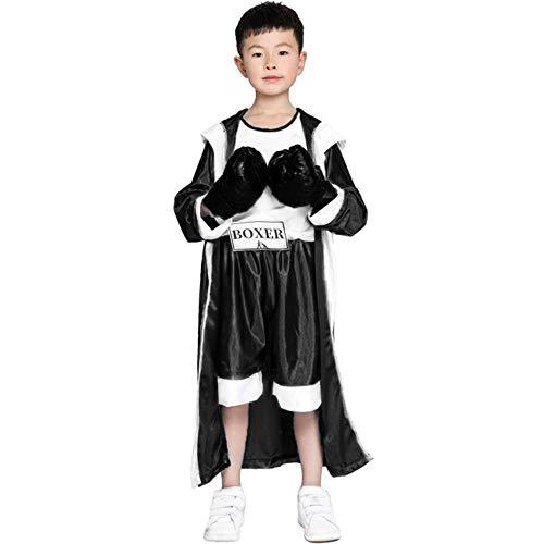 DEXIAOBANG Sportkleidung Der Halloween-Kostümkinder Cos-Jungenphotographie Rote Und Blaue Boxerkinder, Die Wettbewerbskleidung Boxen-m