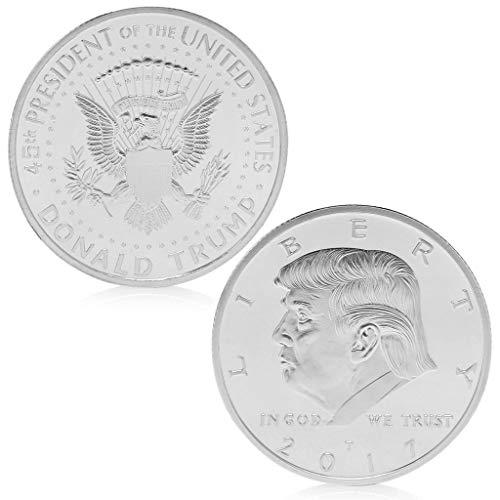 Amarzk Amerikanischer 45. Präsident Donald Trump Versilbert Gedenkmünze Token Neu (Silber) -