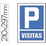 PICTOGRAMA SYSSA SEÑAL DE PARKING VISITAS EN PVC 210X297 MM