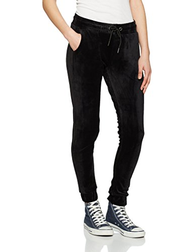 Urban Classics Ladies Velvet Pants Pantalon Survêtement Femme noir Noir