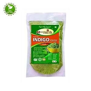 Malvaniya Herbal Care Indigo Powder Organically Processed Natural Hair Colour Dye-255 Grams