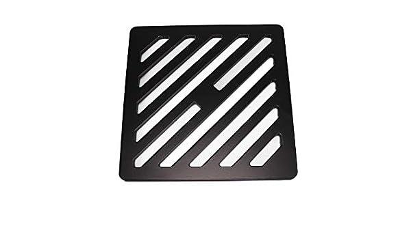 Reiben wie Gusseisen solides Metall quadratisch Stahl Gully Grid Heavy Duty Ablauf 125/mm st/ärker