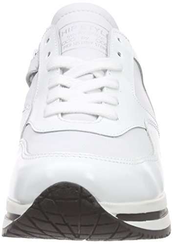 HIP H1813/162/0000, Baskets Basses fille Blanc - Weiß (30CO / 10CO)