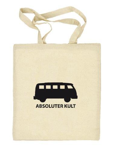 Shirtstreet24, ABSOLUTER KULT, Bus Stoffbeutel Jute Tasche (ONE SIZE) Natur
