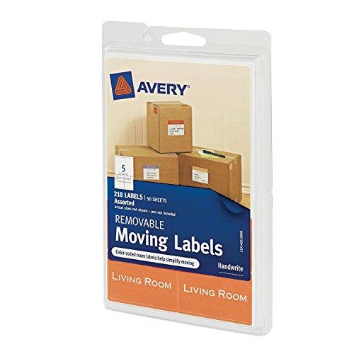 Avery extraíble etiquetas en movimiento, varios tamaños y colores, unidades de 218(40219)