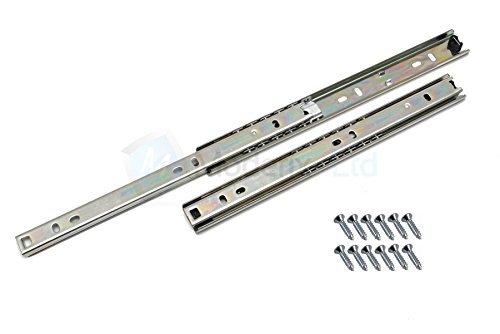 Lot de 1 Coulisse de tiroir rails télescopiques tiroir montage latéral L- 350mm