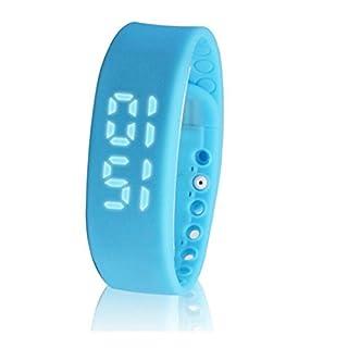 AutoBoy Multifunction W2 3D Waterproof USB LED Sports Smart Bracelet Wristwatch Wristband With Calorie Pedometer Sleep Monitor(Blue)