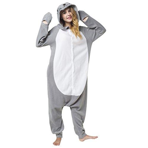 Katara 1744 - Seerobbe Kostüm-Anzug Onesie/Jumpsuit Einteiler Body für Erwachsene Damen Herren als Pyjama oder Schlafanzug Unisex - viele verschiedene - Italienische Kostüm Kinder