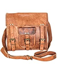 Anshika International Original Leather Tablet Bag - Brown - Front Pocket