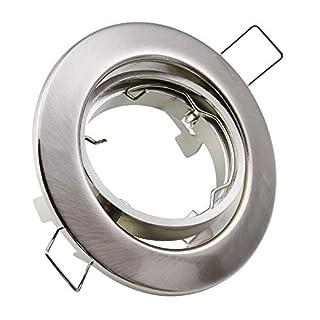 MAXKOMFORT® Einbaustrahler M802 Einbaulampe Einbauleuchte Spot Einbauspot GU10 Eisen Gebürstet