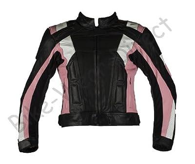 TEXPEED - Veste Cuir blindé moto pour femmes  rose/noire
