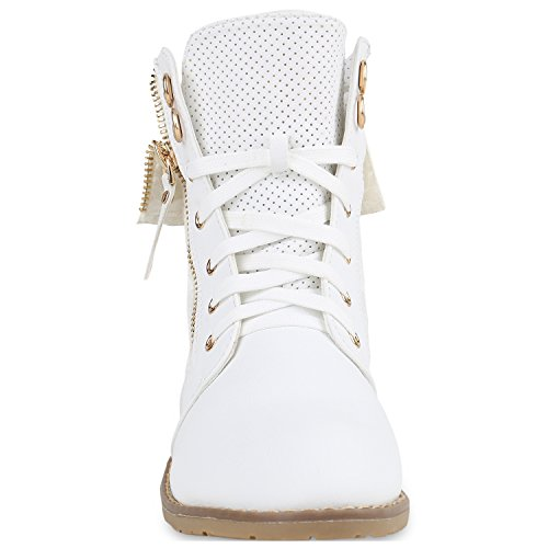10e5de45f201 Damen Schuhe Schnürstiefeletten Spitze Stiefeletten Zipper Worker Boot ...