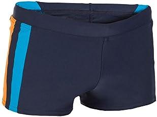 Nabaji 100 Yoke Boy's Boxer Swim Shorts - Blue Orange
