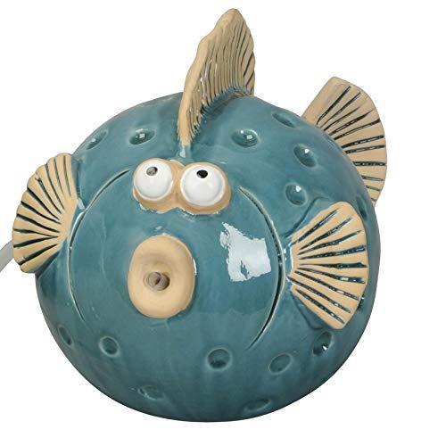 Wasserspeier Fisch blau groß