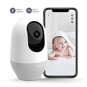 Baby Monitor, Nooie Telecamera di Sorveglianza WiFi,FHD 1080P 360° videocamera IP Interno Wireless con Visione Notturna… 41VNefyTIsL. SS300