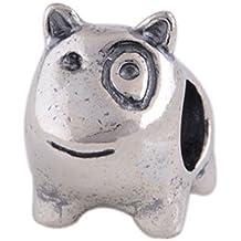 Cane Bulli–Donna Charm–per Pandora drachensilber–argento sterling 925