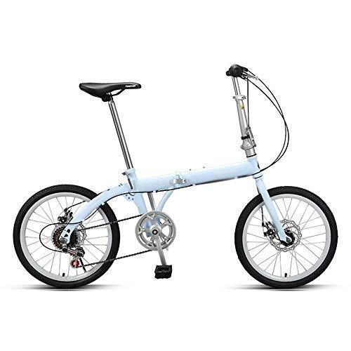 WEIFAN CAI-16 Alufelgen faltbar Pendler City Foldaway Bike 6-Gang Shimano (himmelblau) -