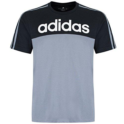 3strisce Adidas Performance uomo lineare t-shirt girocollo