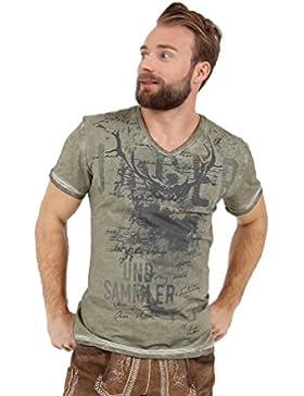 Krüger - Herren Trachten T-Shirt, Jäger Olive (95213-57)
