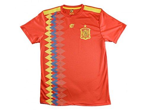 Camiseta Isco Réplica de España. Producto Oficial Licenciado Mundial Rusia 2018. Tallas Ajustadas, Consultar Medidas. - Talla M, Rojo
