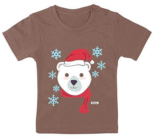 HARIZ Baby T-Shirt Eisbär Schal Mütze Tiere Zoo Inkl. Geschenk Karte Kacka Braun 3-9 Monate / - Machen Eisbär Kostüm