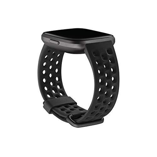 Cinturino intercambiabile Sport Fitbit Versa 2, Nero, Piccola