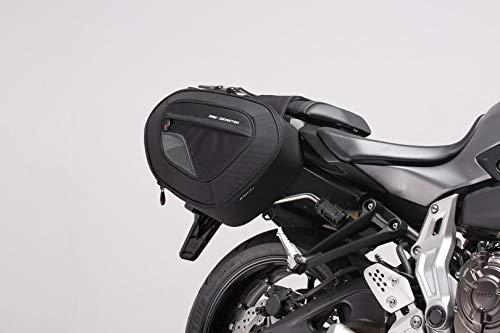 SW-MOTECH BLAZE Satteltaschen-Set, Schwarz/Grau - Yamaha MT-07/ Moto Cage / Tracer -