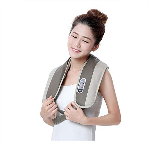 LMtt Shiatsu Back Neck und Schulter-Massager mit Wärme-Deep Tissue Kneading88 Modi, 20 Arten von Geschwindigkeit intelligentes Timing – Electric Massage, Office, Car