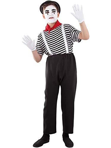 DISBACANAL Disfraz de mimo Infantil - Único, 10 años