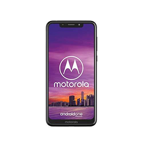 Motorola One Smartphone débloqué 4G (5,9 pouces, 64 Go, Double Nano Sim, Android 9.0) Noir [Version Française]