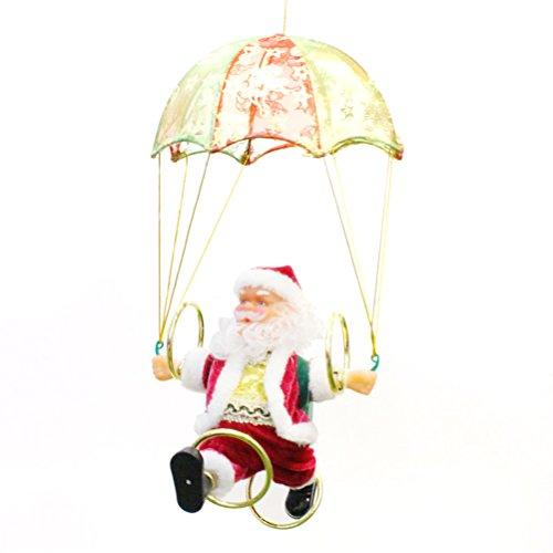 Babbo natale con paracadute giocattolo di natale decorazioni natale regalo per bambini