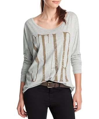 ESPRIT - Chemise - Femme - Gris (Soft Grey Melange 053) - FR : 42 (Taille fabricant : L)