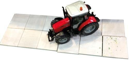 Unbekannt KidsGlobe 1000608 - Betonplatten, Bauernhofzubehör, 18 Felder