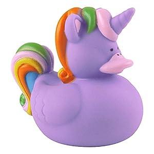 eBuyGB 1317321-4Unicorn - Patos de Goma para niños, Color Morado