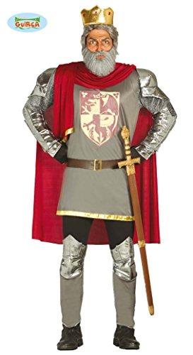 Fiestas Guirca Kostüm mittelalterlicher König mit Mantel und Krone (Mittelalterlicher König Kostüm)