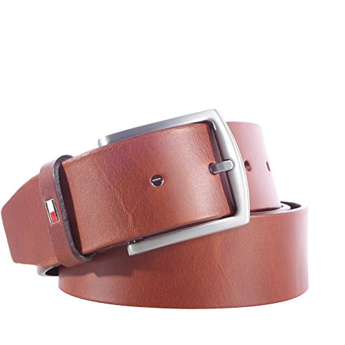 Tommy Hilfiger Herren New Denton Belt 4.0 Gürtel, Braun (Dark Tan 257), 679 (Herstellergröße: 115)