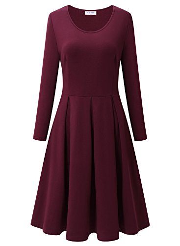 Bulotus Damen Elegant Knielang Cocktailkleid Brautjungfernkleid A Linie Hochzeit Party Casual...