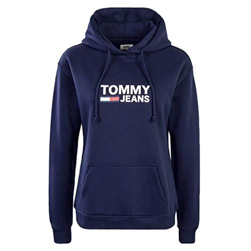 Tommy Jeans TJW Corp Logo Hoodie Kapuzenpullover Damen - L -