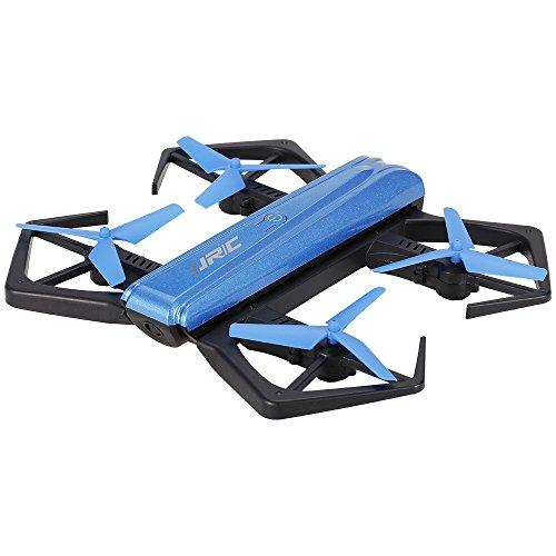 Goolsky jjr / c h43wh cablaggio wifi fpv 720p hd macchina fotografica a quadrotti g-sensore pieghevole mini rc selfie drone (1 batteria)