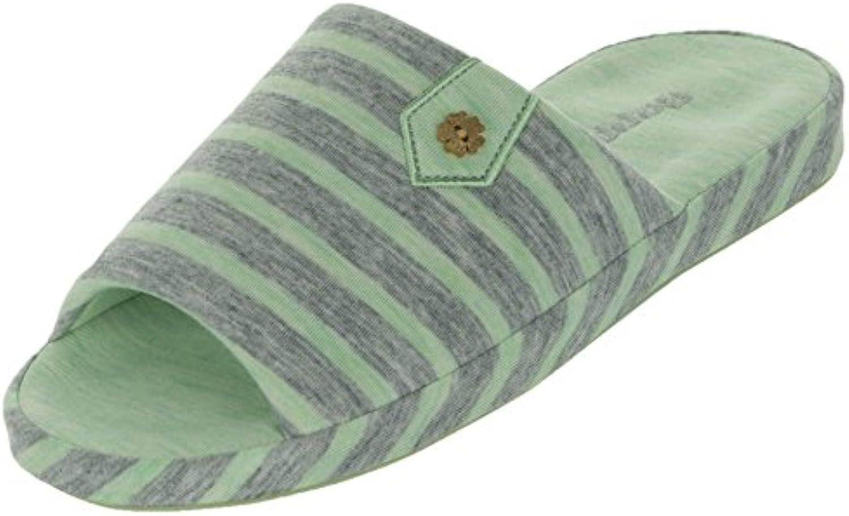BEPPI Zapatillas de estar Por casa de Tela Para Mujer Verde Verde, Color Verde, Talla 37 EU