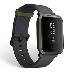 Amazfit Bip Smartwatch, GPS Activity Tracker mit Herzfrequenzmessung Schlafmonitor, Fitness-Tracker, Schrittzähler, Kalorienzähler, IP68 Wasserdicht, 30+ Tage Akkulaufzeit, (Black)